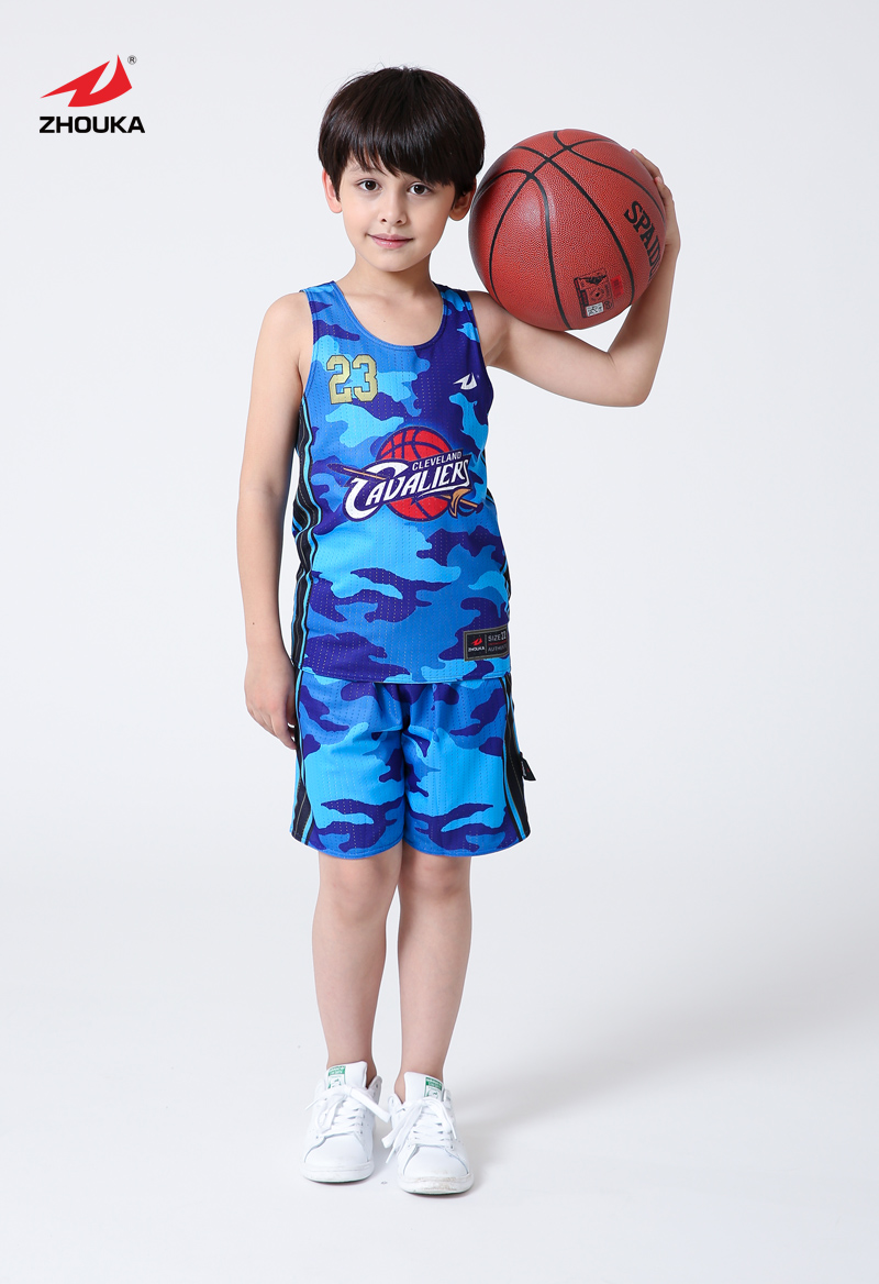 Custom popular design Kids basketball jersey Reversible basketball uniform(China (Mainland))