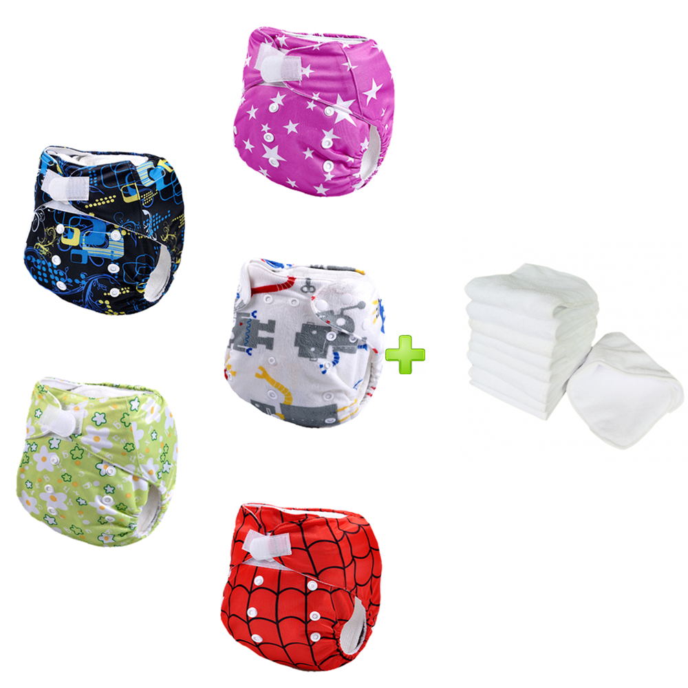 Washbale and Reusable Diaper Bamboo Booster Bamboo Product Wholesale (5sets)(China (Mainland))