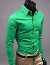 Men Shirt Long Sleeve Slim Fit Manga Larga Hombre Mens Dress casual Shirt solid m xxxl
