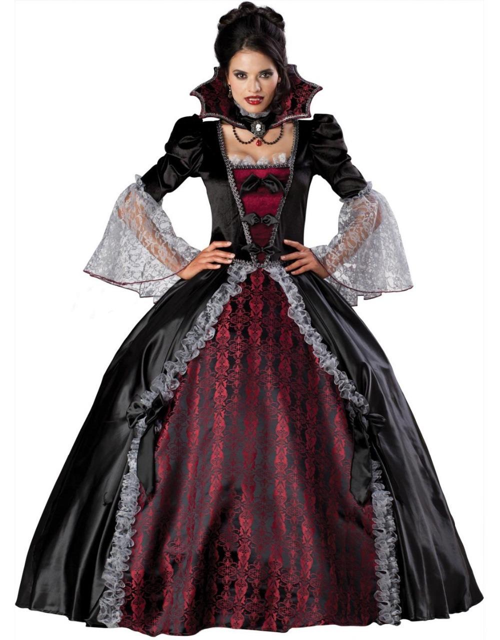 M, L, XL Sexy Women Halloween Costume Black Devil Fantasy Vampire Cosplay Costume W158817(China (Mainland))