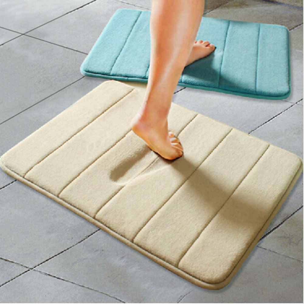 Carpets Soft Memory Foam Slow Rebound Waste Absorbing Slip Resistant Mats Coral Fleece Doormat Carpets For Living Room Bathroom