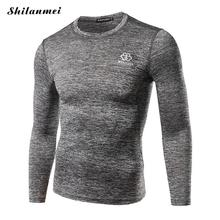Buy Simple Mens Compression Shirts Bodybuilding Tight Long Sleeves Jerseys Clothing MMA Crossfit Exercise Workout Skinny Sportswear for $16.04 in AliExpress store