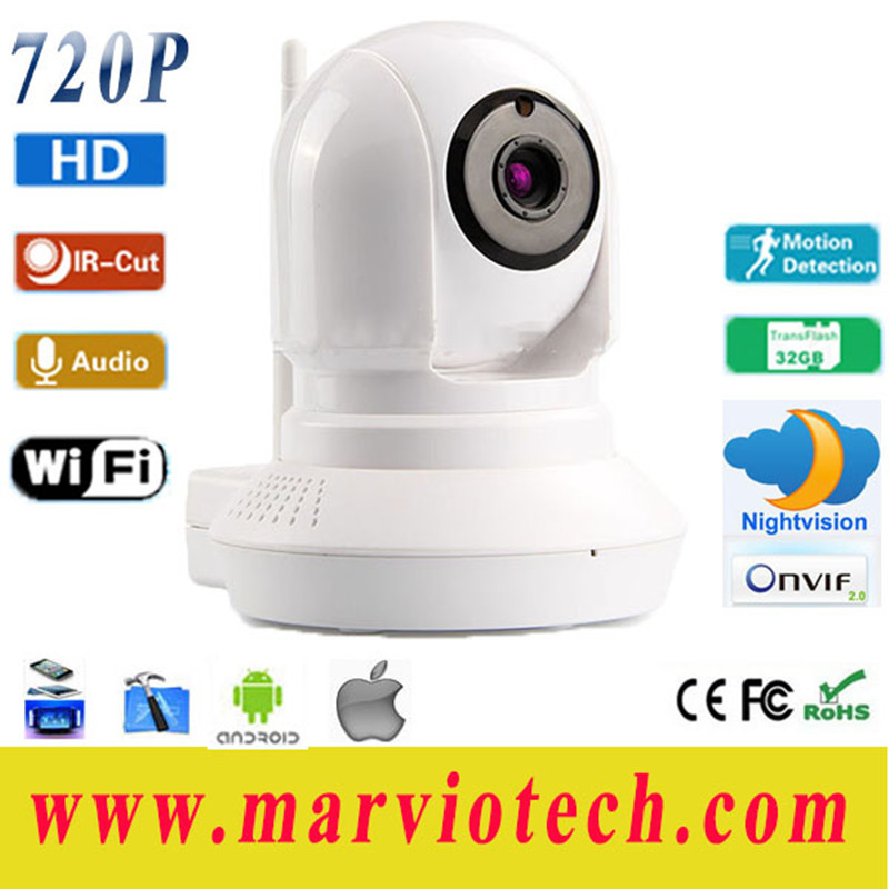 Wireless webcam wifi 720 p hd IP camera family phone remote monitoring camera for free distribution(China (Mainland))