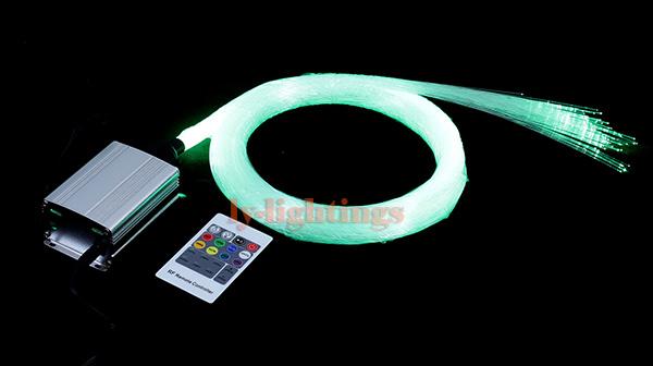 DIY home decoration optic fiber light kit led source+150pcsx0.75mmx5m ps fibres RGB color change star wireless RF remote - LY-Lightings store