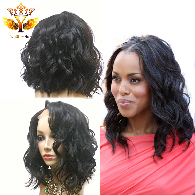 Фотография Short Bob Wavy Lace Front Wig With Baby Hair Human Hair Bob Lace Front Wigs Full Lace Short Human Hair Lace Wigs for Black Women