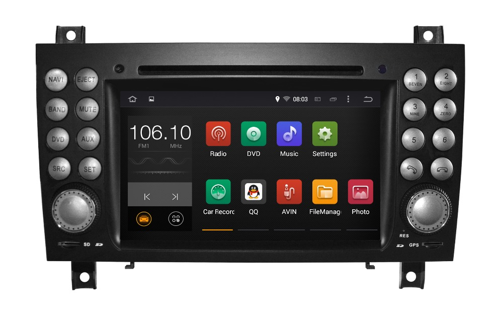 auto stereo Android 5.1/1.6 GHZ CAR DVD GPS For Mercedes SLK radio dvd with Reversing Track function(China (Mainland))