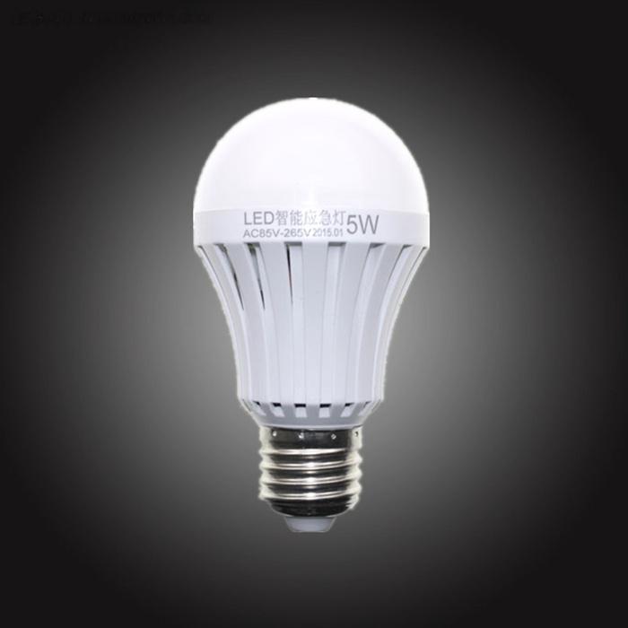 LED smart emergency lamp led bulb led e27 bulb lights light bulb energy saving 5W 7W 9W after power failure automatic lighting(China (Mainland))