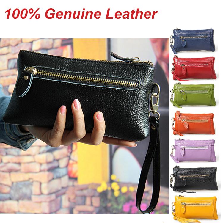 Гаджет  2015 Hot Women Clutch Bag Women Leather Clutch Wallets Woman Genuine Leather Wristlet Change Phone Purse Handbag 2004 None Камера и Сумки