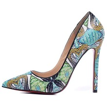 Fashion High Heels Celebrity Women Shoes Sexy Pointed Toe Printing Leather Pumps 35-42(China (Mainland))