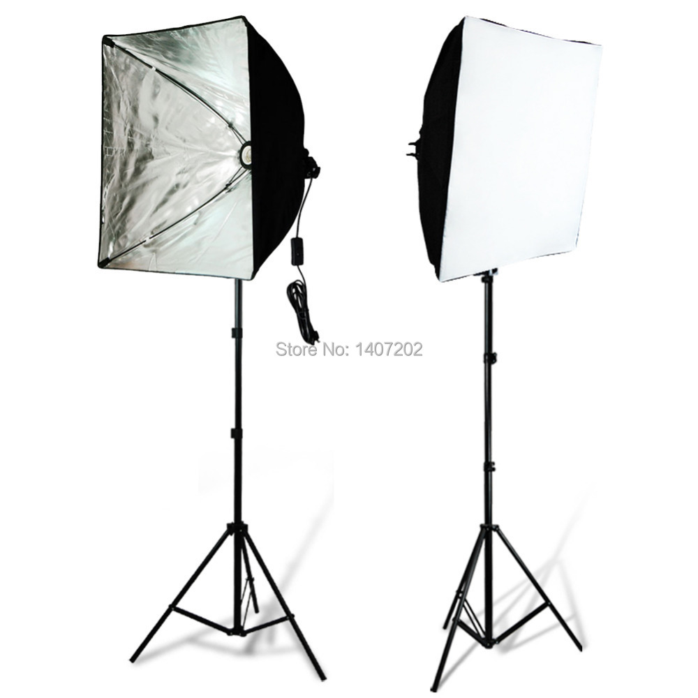 Studio Premium Quality  Photography Stand Studio Light Softbox lighting kit 50x70cm softboxes 2M stand shooting props<br><br>Aliexpress