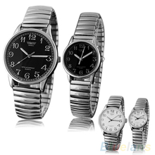 Couple Lover Watch  Men Women Design Vintage Alloy Quartz Analog Stretchable Wrist Watch