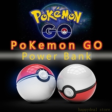 Mobile game Cosplay Pokemon Go Pokeball 12000 Mah LED Quick phone Charge Power Bank figure Charger free shipping