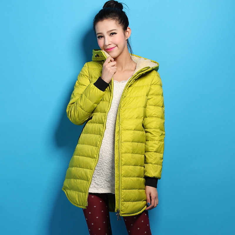 2016 Womens Winter Jackets Coats Slim 90% White Duck Jacket Women Hooded Long Zipper Overcoat IF514