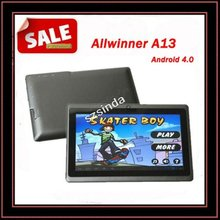 Free Shipping DHL Factory 7inch Android 4.0 Capacitive Screen 512M 4GB Camera WIFI Q88 Android Allwinner A13 Tablet PC USA(Hong Kong)