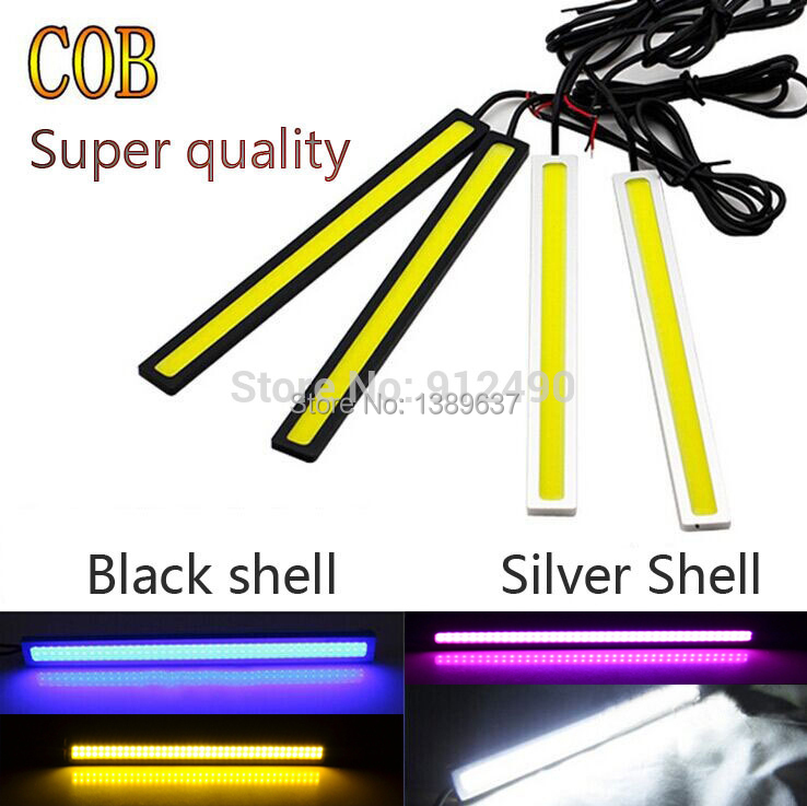 2piece 17cm car styling 12V Daylight 6W COB Car LED DRL parking 100% Waterproof Daytime Running Light FreeShipping(China (Mainland))