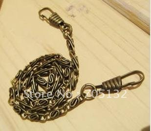 Bronze purse/bag metal chain strap with connector clasps 40cm long Patchwork/DIY chains 20pcs freeshipping(China (Mainland))