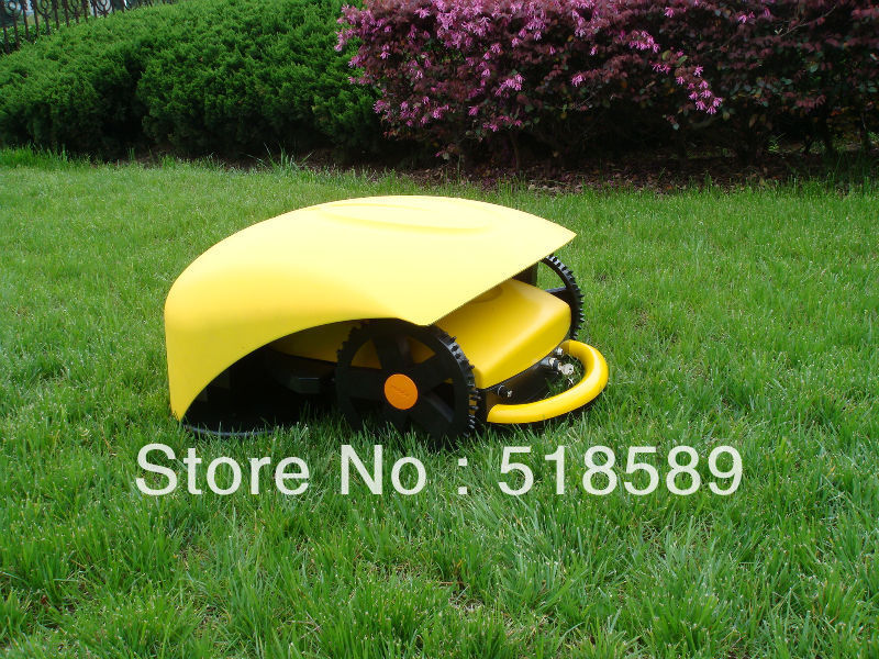 Original Intelligent Robot Lawn Mower,grass cut height: 2.5-6.5cm with remote control/ultrasonic radar Auto Recharged Appliances(China (Mainland))