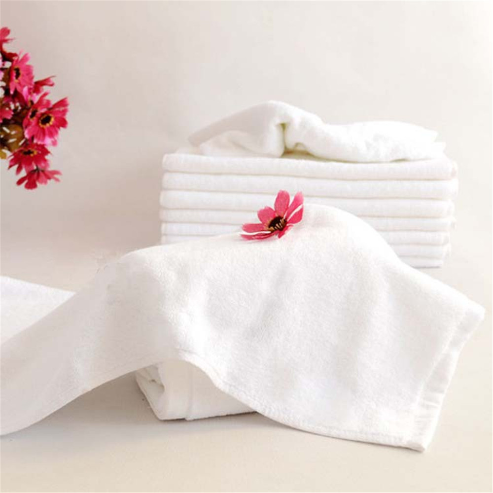 2015 New Snow White Plain Terry Hand Towel 35*75 cm 16 Single Yarn Face Towel Guest Towel(China (Mainland))