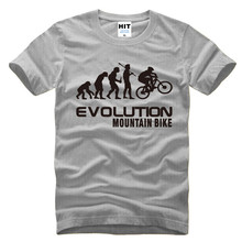 Evolution Of Mountain Bike T Shirt Men Funny Fashion Hip Hop T Shirts Men Short Sleeve O-Neck Cotton Tops Custom Logo Accepted