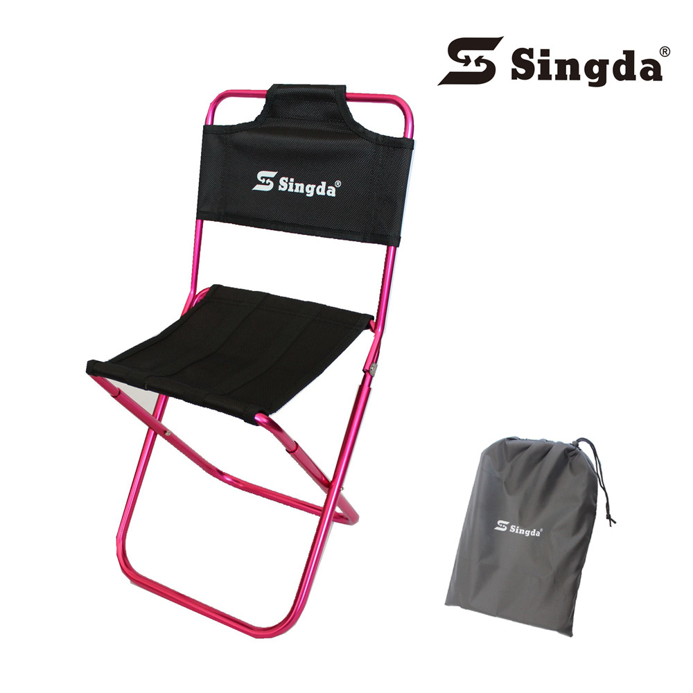 Outdoor camping singda ultra light aluminum alloy folding canvas chairs color