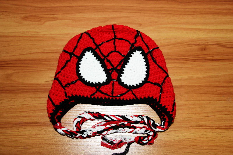 Gallery For > Crochet Spiderman Hat Pattern Free