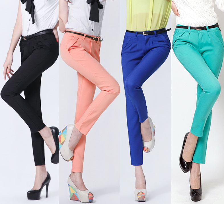 New Career Pants Elegant Long Black Cotton Blend Casual Women39s Pants