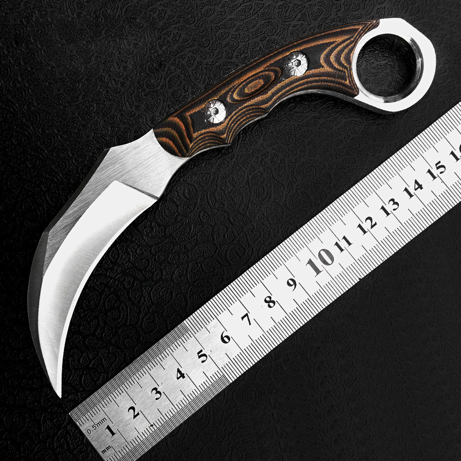 Fox tactical Karambit Knife Camping tools Knife fixed Claw Machete amping pocket survival tools Cold Steel Hunting Combat Messer(China (Mainland))