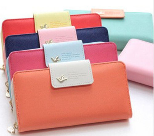 2015 Candy Color Women Brand Wallets Famous Designer PU Leather Wallet Coin Purses Ladies Monederos Free - xinxinzhao store