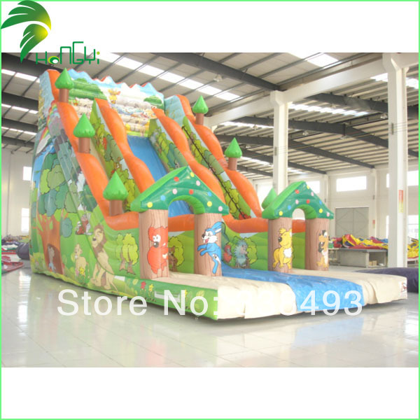 Hot Sale Water-proof 0.6mm PVC 6*6m Cheap Inflatable Water Slides(China (Mainland))