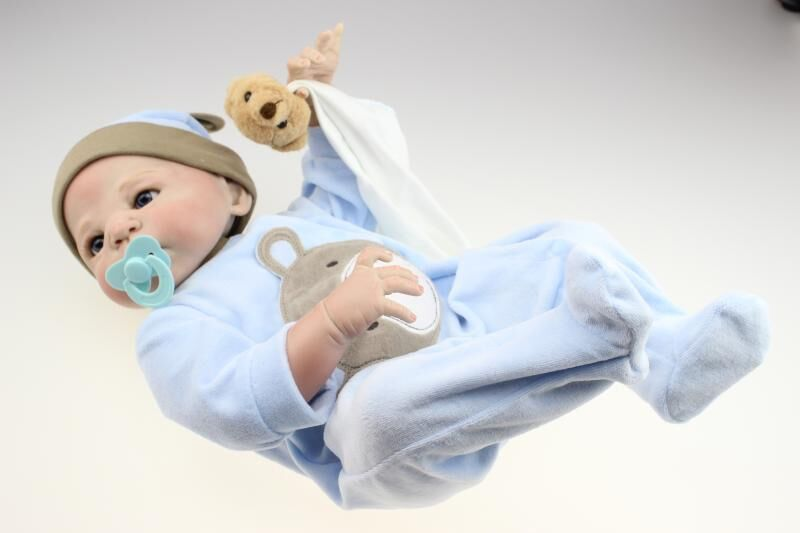 Full soft reborn baby doll hot selling baby clothing model silicone reborn baby dolls lifelike baby toys for children kids toys(China (Mainland))