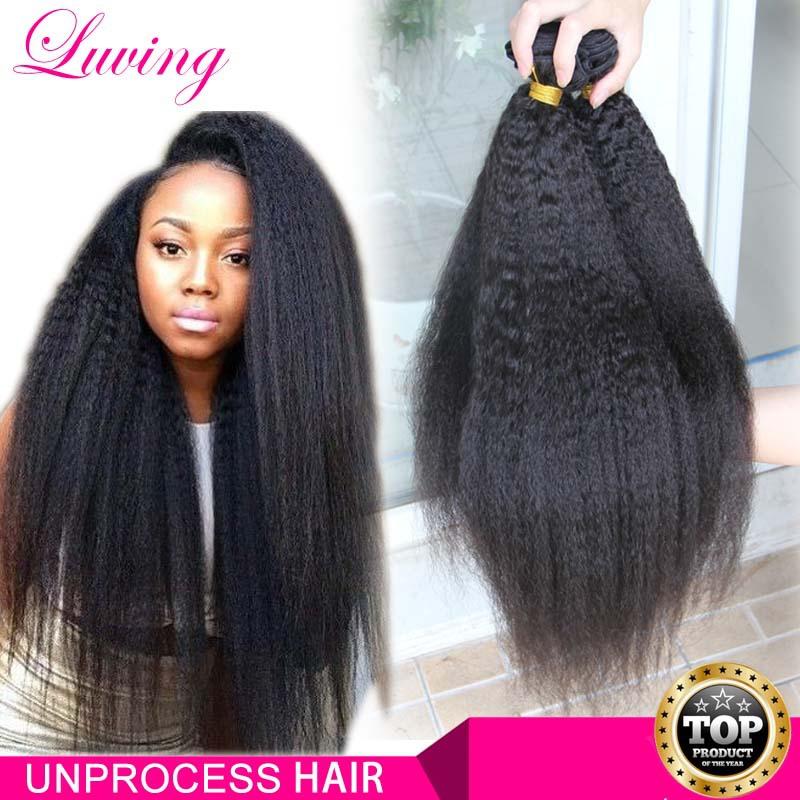 7A Grade Top Quality Malaysian Kinky Straight Virgin Hair 3Bundles Coarse Yaki Human hair Extensions light Yaki straight Hair(China (Mainland))