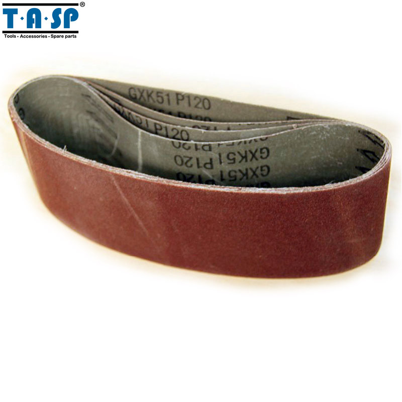 Honest Tasp 5pcs 75x533mm Aluminium Oxide Sanding Belt 3x21 Belt Sander Sandpaper Woodworking Power Tools Accessories Tools