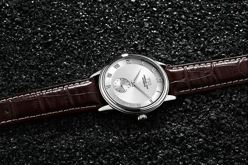 Оригинальный Бренд TSS мужские золотые Часы Автоматические Механические Часы Waterproff Бизнес Наручные Часы Мужчины relogio masculino