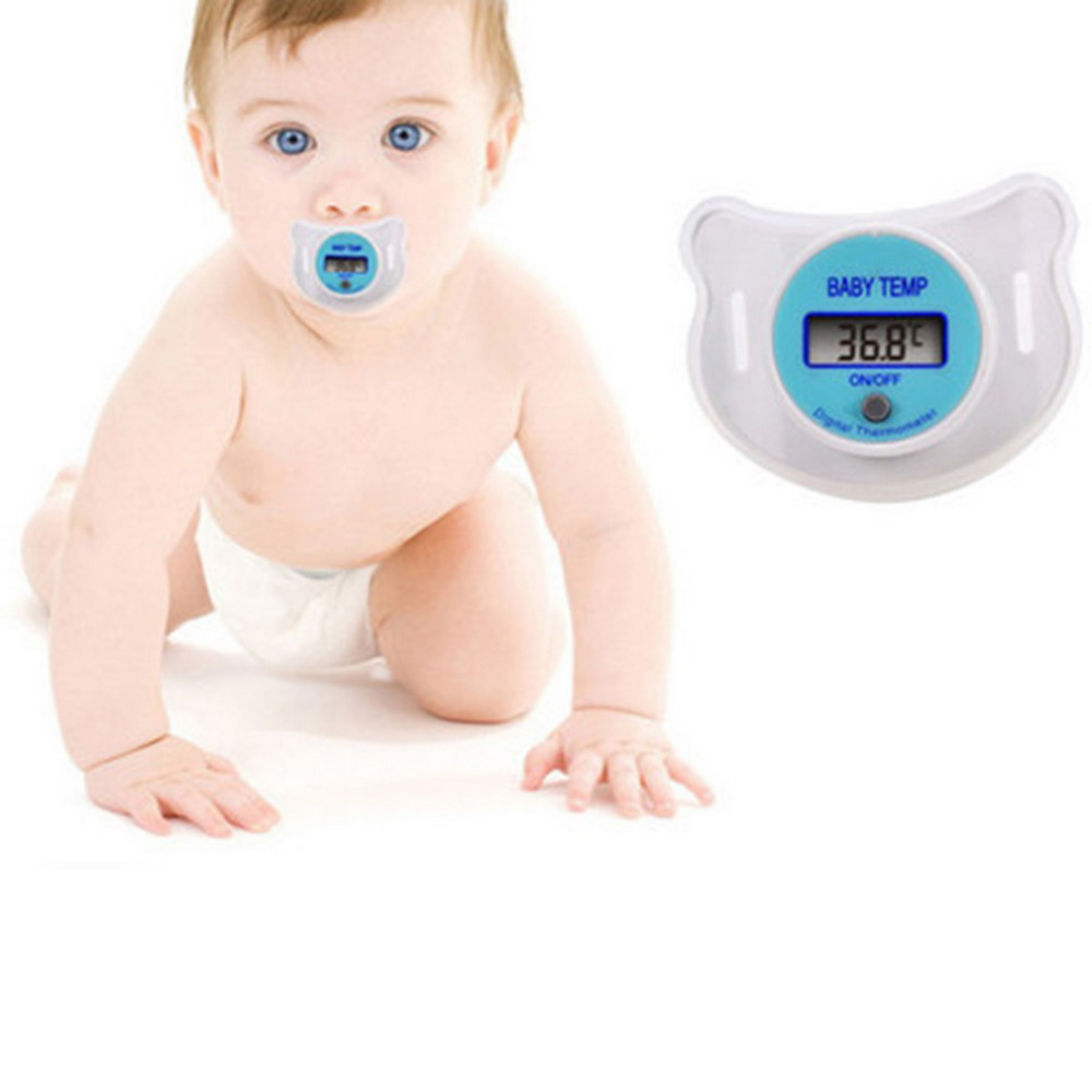 Practical New Baby Kid LCD Digital Mouth Nipple Pacifier Thermometer Temperature(China (Mainland))