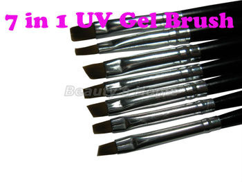 7 in 1 Nail print pen Acrylic Nail Brush Kit Art Set UV gel brush Nail art,7 sizes ,Free shipping,0862