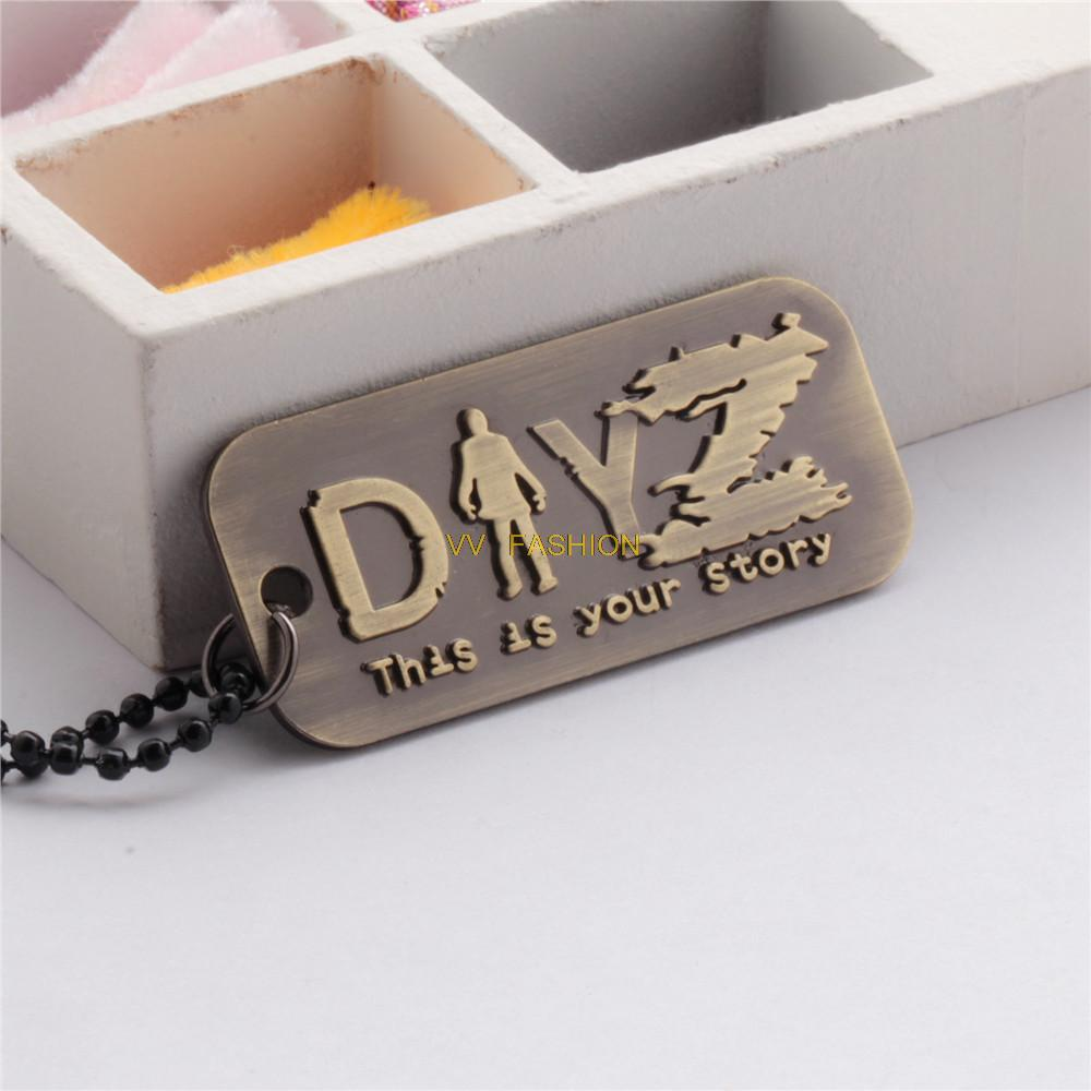 VVA5032 DayZ Nacklace Men Colar Hip Hop Neckless Male Dog Tag Military Army Collier Best Friends fashion necklaces(China (Mainland))