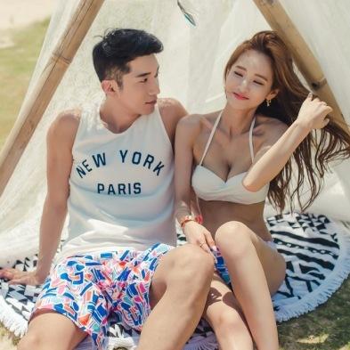 Bikini Set 2017 Retro Swim Wear Bikinis Top Bottoms Cheap Sexy New Korean Lovers Underwire Push Up Men Pants Biquine Maillot De(China (Mainland))