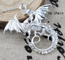 Fashion Jewelry 925 Sterling Silver Punk Wings Pendant 925 Silver Charm Pendant fit for Necklace