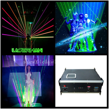 5W RGB Full Color Laser Equipment Laserman Show Stage Light Laser Man Projector For DJ Party Stage Performance Wedding Nightclub