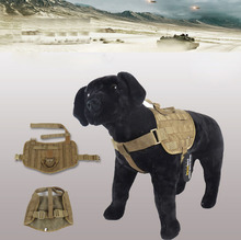 Army Dog Tactical Vests Outdoor Military Dog Clothes Load Bearing Harness SWAT Tactical Dog Training Molle Vest Harness Size M L(China (Mainland))