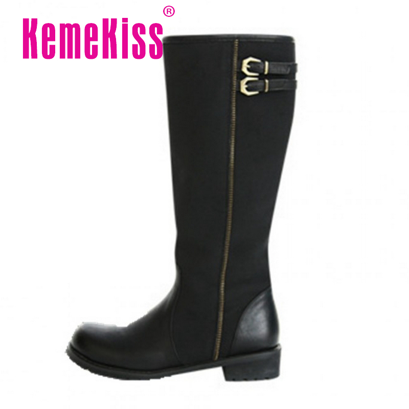 women real genuine leather flat over knee boots fashion long boot winter botas feminina brand footwear shoes R7518 size 34-39<br><br>Aliexpress