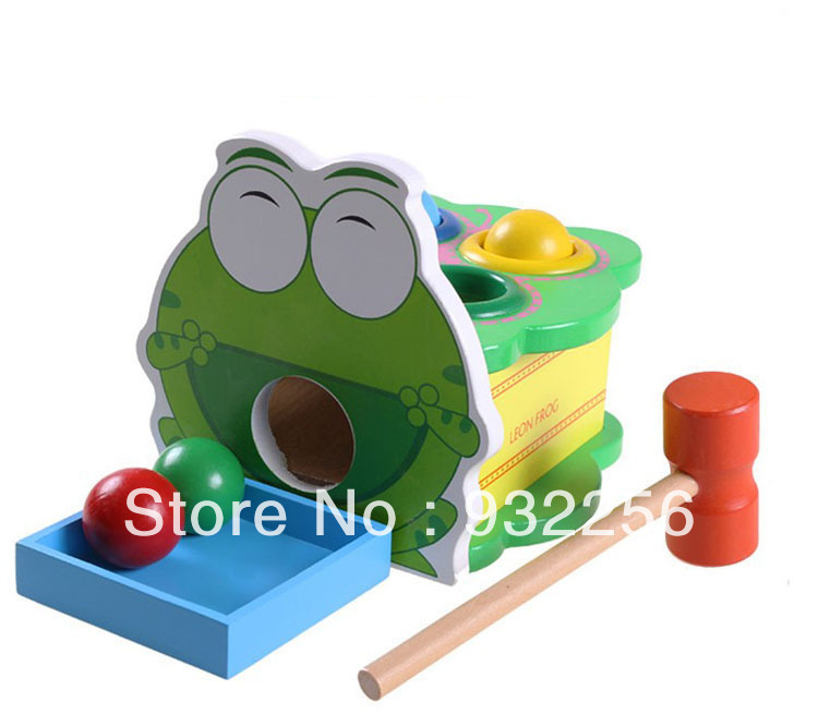 100% Brand New 3D Puzzle Game Montessori Educational Wooden Toys Beating Frog House Baby Christmas Gift Children - George Ye's store