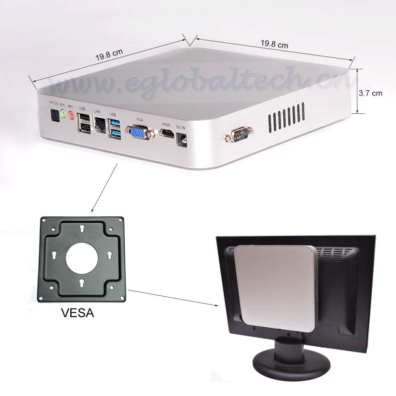 Mini Computer Computador HTPC with Intel Celeron N3150 CPU Barebone+RAM+HDD Nettop PC Barebone System RTL8111DL Lan USB3.0 HTPC(China (Mainland))