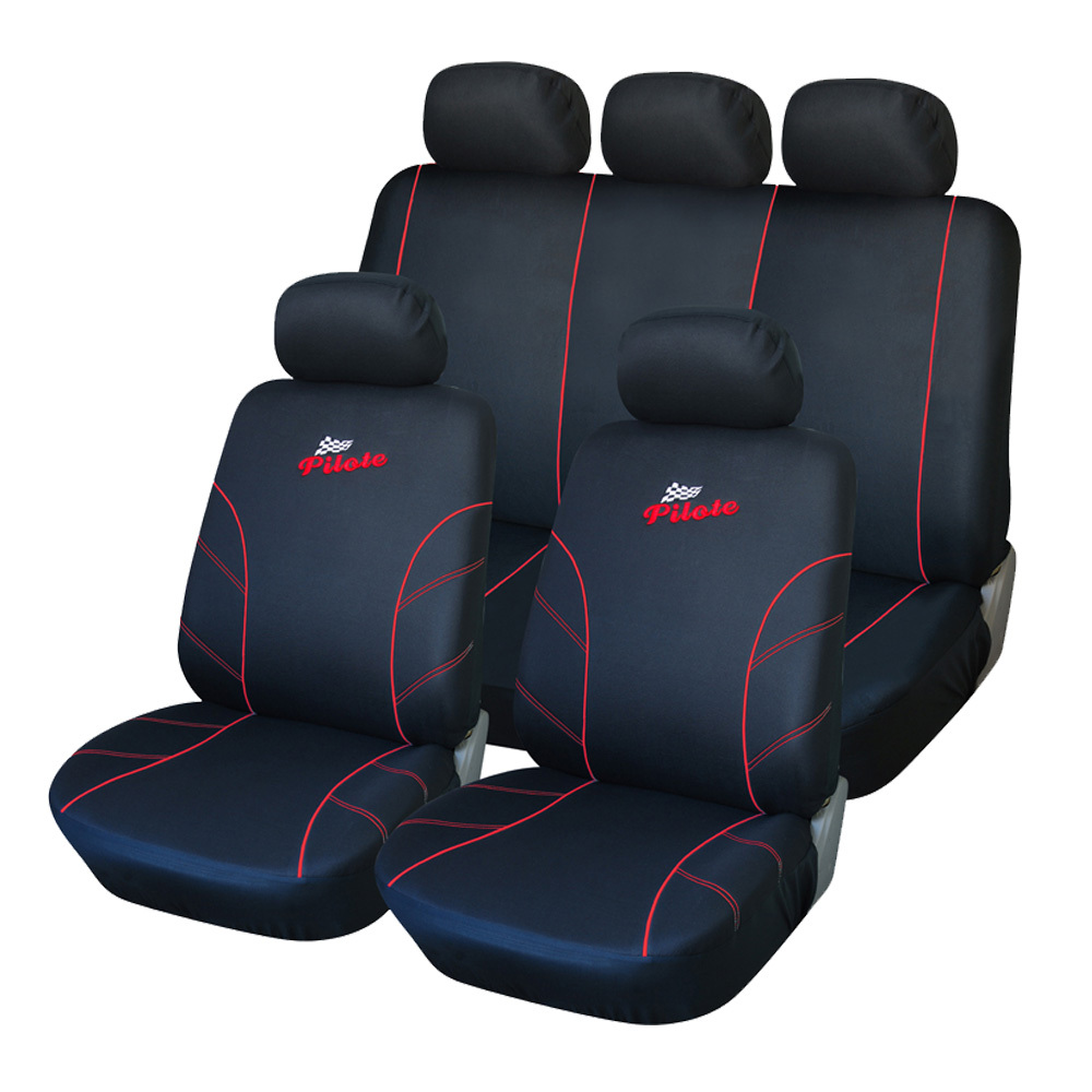 AUTOYOUTH Polyester Fabric Racing Car Seat Covers Universal Fit Front Rear Red line Car Seat Cover Interior Accessories(China (Mainland))