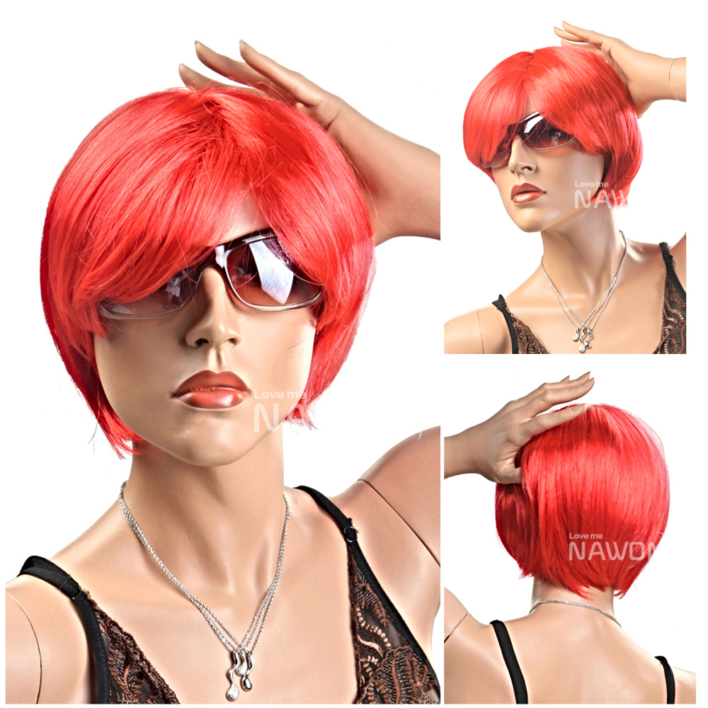 2014 Football Basketball Fans Red Wig Party Wigs Cos Anime Hair Cheap Man or Women Wigs<br><br>Aliexpress