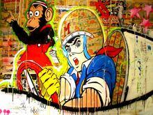 Mr Monopolyingly искусство Улица граффити Mimo Холст Картина Скрудж Микки Маус плакат стены HD картина для гостиной домашний декор(China)