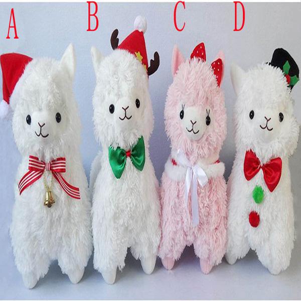 2015 45CM Christmas Alpacasso Stuffed Toys Jumbo Plush Animals Sheep Toy Brinquedo Alpaca Peluches Doll(China (Mainland))