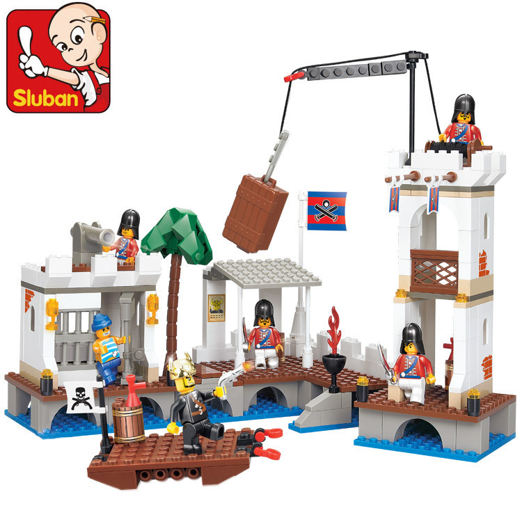 Without Original Box SLUBAN pirate Attacked Port Royal 339 pcs education DIY toys building blocks compatible with lego<br><br>Aliexpress
