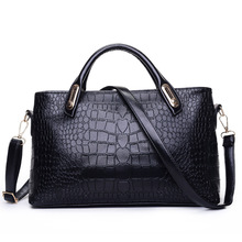 2015 new women bag handbag fashion trends in Europe and America crocodile pattern shoulder Messenger Bags Free Shipping(China (Mainland))