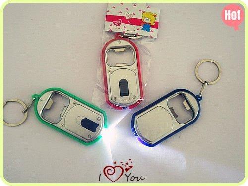 Keylight with Bottle Opener Bar Beer, Led light key chain,keychains,key ring men and women/20pcs/lot Wholesale